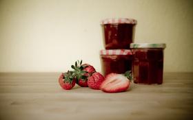 Картинка ягода, клубника, джем, варенье, markus spiske, photographer