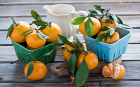 Обои посуда, доска, фрукты, натюрморт, цитрусы, мандарины, Anna Verdina