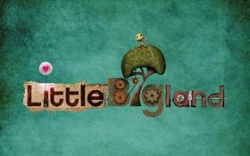 Обои надпись, фон, Little Big Planet, сердечко, механизм, игрушка