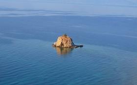 Картинка море, дерево, остров