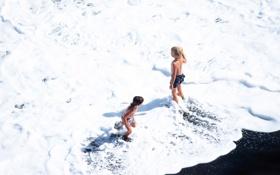 Картинка море, лето, дети, детство, мальчики