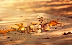 Картинка осень, коробки, amazon