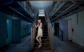 Обои девушка, страх, тюрьма