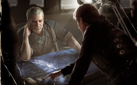 Обои карта, арт, мужчины, Lara Croft and Tomb Raider