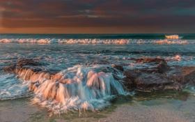Картинка пляж, волны, море