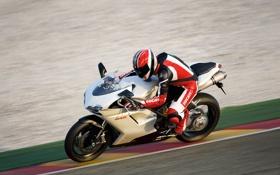 Картинка скорость, размытость, трек, гонщик, ducatti