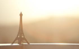 Картинка солнце, фон, widescreen, обои, настроения, эйфелева башня, wallpaper