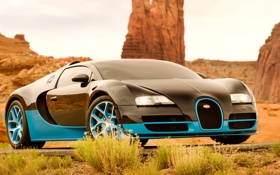 Обои машина, Bugatti, Veyron, Drift, передок, Grand Sport, Vitesse