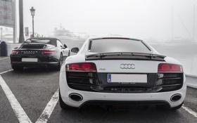Картинка Audi, Porsche, white, 991, Carrera S