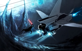 Картинка Ситх, art, световой меч, by TheRisingSoul, Lone Sith