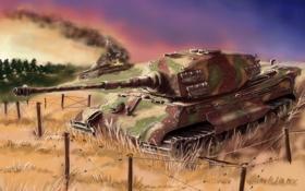 Обои тигр, танк, германия, tank Tiger 2, German heavy