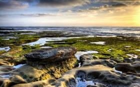 Картинка море, пейзаж, камни, берег