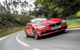 Картинка бмв, BMW, кабриолет, Cabrio, F12, UK-spec, 650i