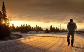 Картинка восход, Висконсин, United States, Sunrise, Филлипс, Phillips, Wisconsin