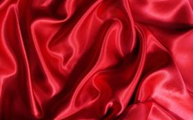 Обои блеск, текстура, ткань, красная, алая, складки