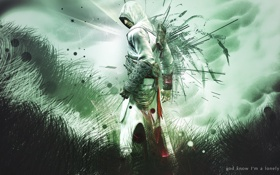 Картинка assassins creed, альтаир, ассасин, altair, абстрактный фон