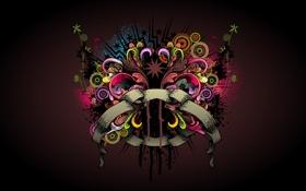 Обои цвета, стиль, креатив, узор, яркость, creative, зарисовка