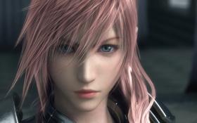 Картинка взгляд, девушка, lightning, final fantasy xiii