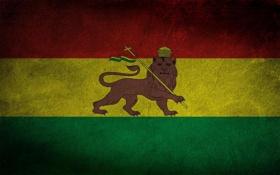 Обои флаг, герб, Боливия