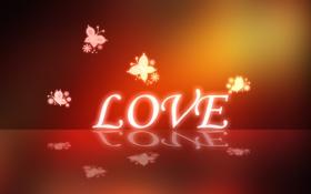 Обои бабочки, любовь, love