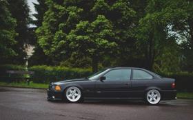 Обои тюнинг, бмв, BMW, черная, профиль, black, tuning
