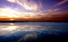 Обои небо, вода, озеро, река, обои, пейзажи, красота
