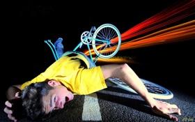 Картинка велосипед, ситуация, парень