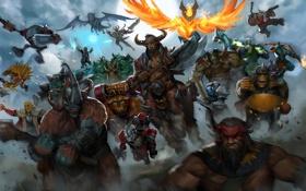 Картинка Beastmaster, Dota 2, Magnus, Huskar, Bristleback, sven, Phoenix
