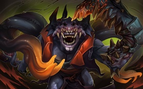 Картинка монстр, существо, арт, Lion, Dota 2, Demon Witch, beastofoblivion