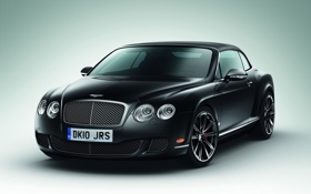 Обои чёрный, continental, bentley, автомобиль, gtc