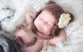 Картинка сон, ребёнок, шапочка, младенец