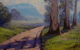 Обои рисунок, арт, artsaus, valley road