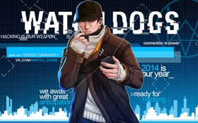 Обои арт, телефон, Watch Dogs, Эйден Пирс, Сторожевые Псы