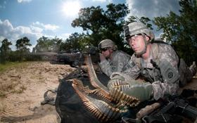 Обои оружие, солдаты, пулемёт