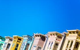 Обои небо, дома, San Francisco