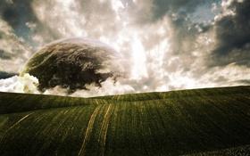 Обои поля, планета, горизонт, конец, HorizonsEnd