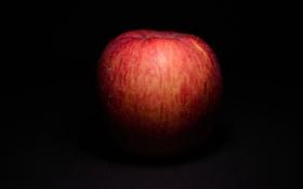Обои макро, фон, фрукт, яблоко