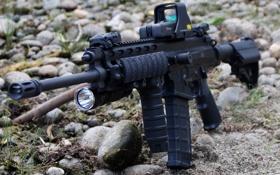 Картинка оружие, автомат, камушки, XCR, Robinson Armaments