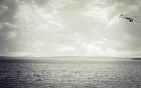 Картинка самолет, река, кляйн, НУК, Николаев