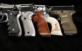 Обои оружие, фон, пистолеты, рукоять