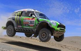 Обои Колеса, Зеленый, Mini Cooper, Rally, Dakar, Ралли, MINI