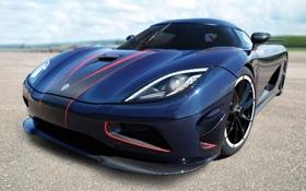 Обои небо, синий, тюнинг, Koenigsegg, суперкар, tuning, передок