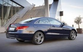 Картинка car, Mercedes-Benz, мерседес, Coupe, blue, nice, E 250
