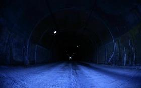 Обои дорога, темный фон, туннель