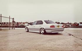 Обои тюнинг, BMW, Бумер, БМВ, диски, stance, E38