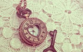 Картинка стрелки, часы, ключ, цифры