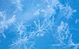 Картинка снег, кристаллы, вода