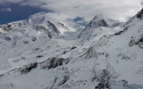 Картинка холод, снег, вершины, гор