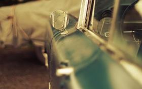 Картинка машина, зеркало, старая