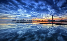 Обои небо, пейзаж, закат, город, Торонто